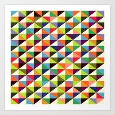 Mid-century triangle pattern Art Print
