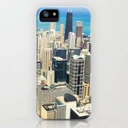 Chicago Buildings Color Photo iPhone Case