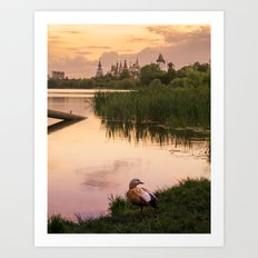 Near the Vernissage (Moscow) Art Print
