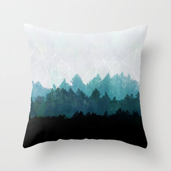Woods Abstract  Throw Pillow