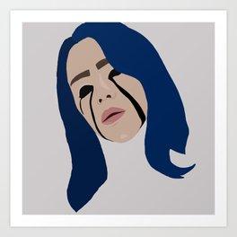 Billie Eillish Art Art Print