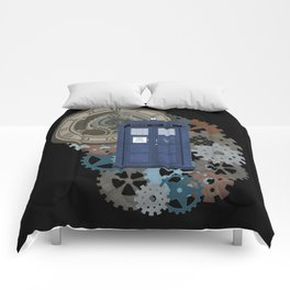 Traveling Through Time Comforters