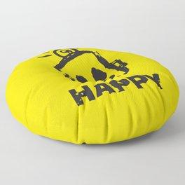 HAPPY  Floor Pillow
