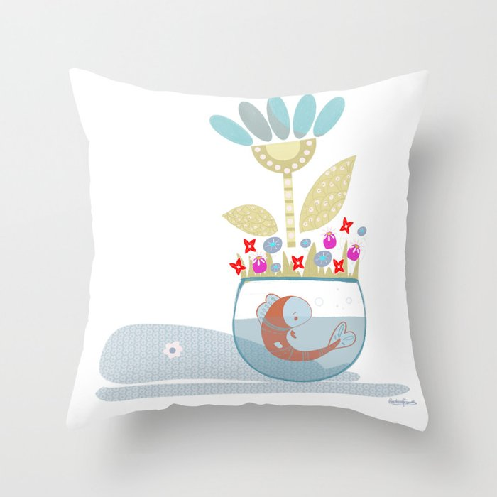 The shadow of the whale Throw Pillow