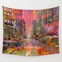 shiva Wall Tapestries featuring traffic jam pink by Ganech joe