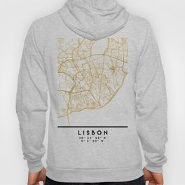 LISBON PORTUGAL CITY STREET MAP ART Hoody