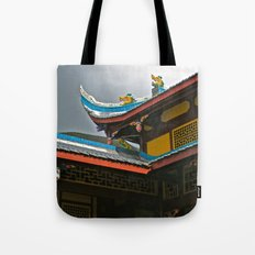 Temple Rooftop Tote Bag
