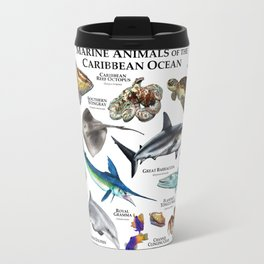 Marine Animals of the Caribbean Ocean Travel Mug