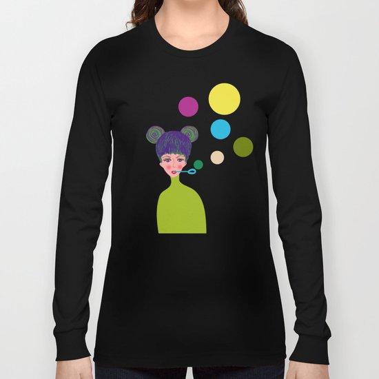 Playful girl Long Sleeve T-shirt