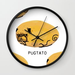 Pugtato Wall Clock