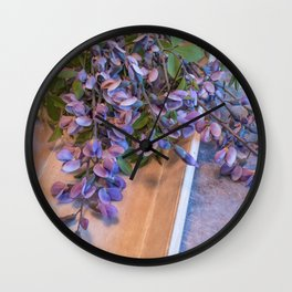 Gardener's Bouquet Casual Cut Flower Still Life Wall Clock