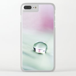 feather green Clear iPhone Case