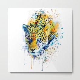 Lurking Leopard Metal Print