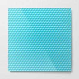 Blue Cube Tiles Metal Print