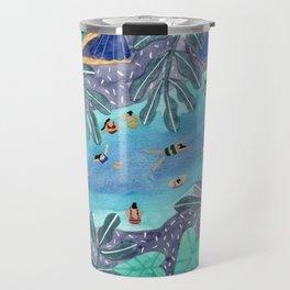 Midnight jungle pool Travel Mug