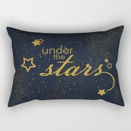 Under the stars- sparkling gold glitter night typography Rectangular Pillow