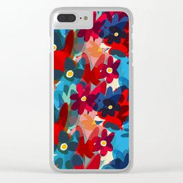 Flowers in Bloom Springtime Pattern Clear iPhone Case