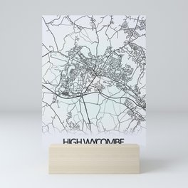 High Wycombe, England, City Map Mini Art Print