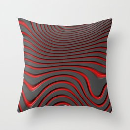 Organic Abstract 02 RED Throw Pillow