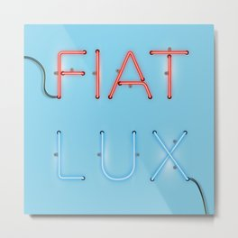 FIAT LUX Metal Print