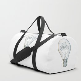 Light Bicycle Bulb Duffle Bag
