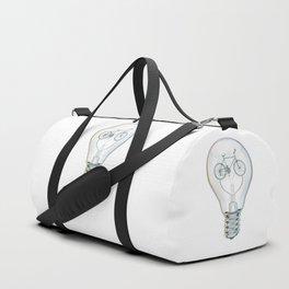 Light Bicycle Bulb Duffle Bag