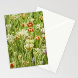 Oil Floral 011 Stationery Cards