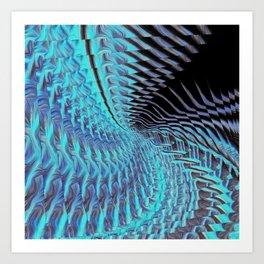 Smoothed.Inverted.GoldenAngelElement2.Recursion Art Print