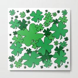 Clover Confetti Metal Print