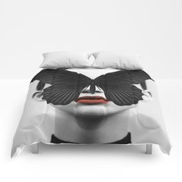 BLACK BUTTERFLY Comforters