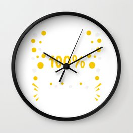 Today's Forecast 100% Of Crocheting - Crocheting Wall Clock