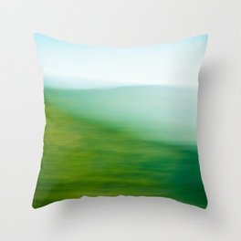 Mountains and Sea Throw Pillow