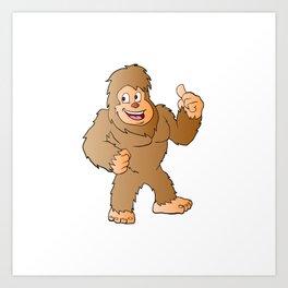 Bigfoot cartoon Art Print