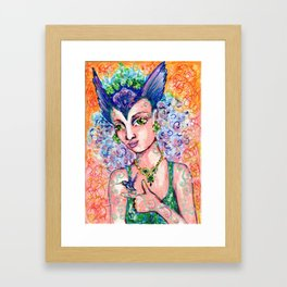 Hummingbird Goddess Framed Art Print