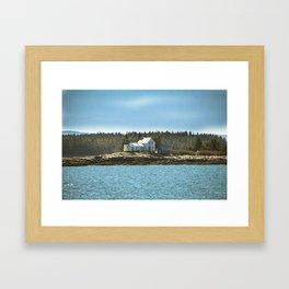 Lighthouse Island - Maine Framed Art Print