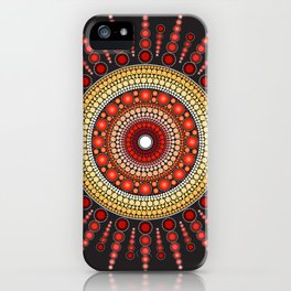 Red Mandala iPhone Case