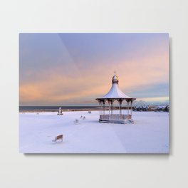 Nairn Bandstand in Snow Metal Print