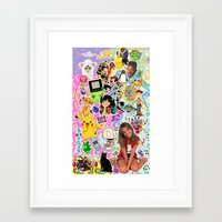 90s Framed Art Prints featuring 90s, childhood. by eriicms