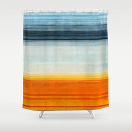 Yellowstone Orange Shower Curtain