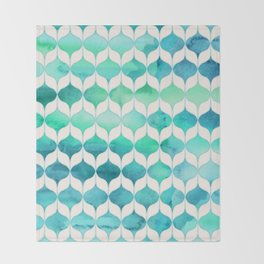 Ocean Rhythms and Mermaid's Tails Throw Blanket