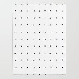 Dot Grid Black and White Poster
