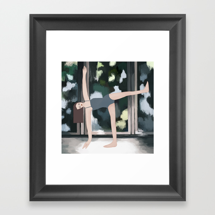 Yoga Girl #3 Framed Art Print by Stonegirls FRM8868988