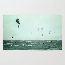 Summer dreams. Kite surf Rug
