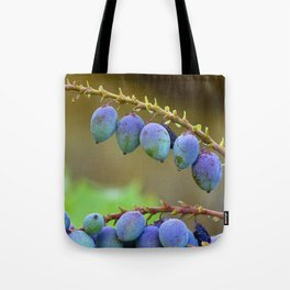 Early spring berries (blue, purple and green) Tote Bag