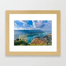 The Bay of Kotor Framed Art Print