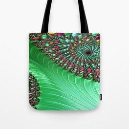 Carnival Green Tote Bag