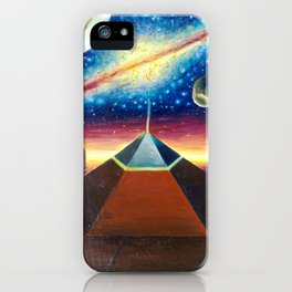 The Cydonia D&M pyramid the face on Mars and the milky way iPhone Case
