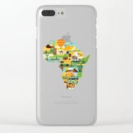 Africa Is Amazing - A Detailed Illustrated African Culture Design Clear iPhone Case