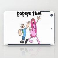 popeye iPad Cases featuring popeye time by Chiaris