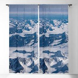 Aerial Glacier Four - Alaska Blackout Curtain